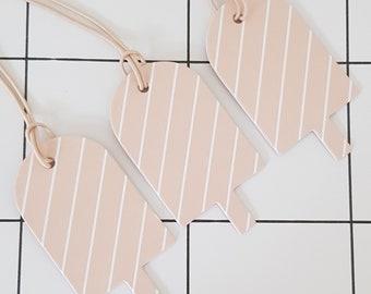 Gift tag paper pendant ice cream 5 pieces
