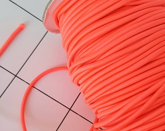 Elastic band of 3 mm neon orange 5 meter rubber band round rubber craft material DIY (base price: 0.78 Euro / meter)
