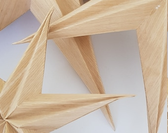 Star Christmas Pendant Nature Wood .20cm Christmas