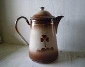 Enamel coffee pot from France