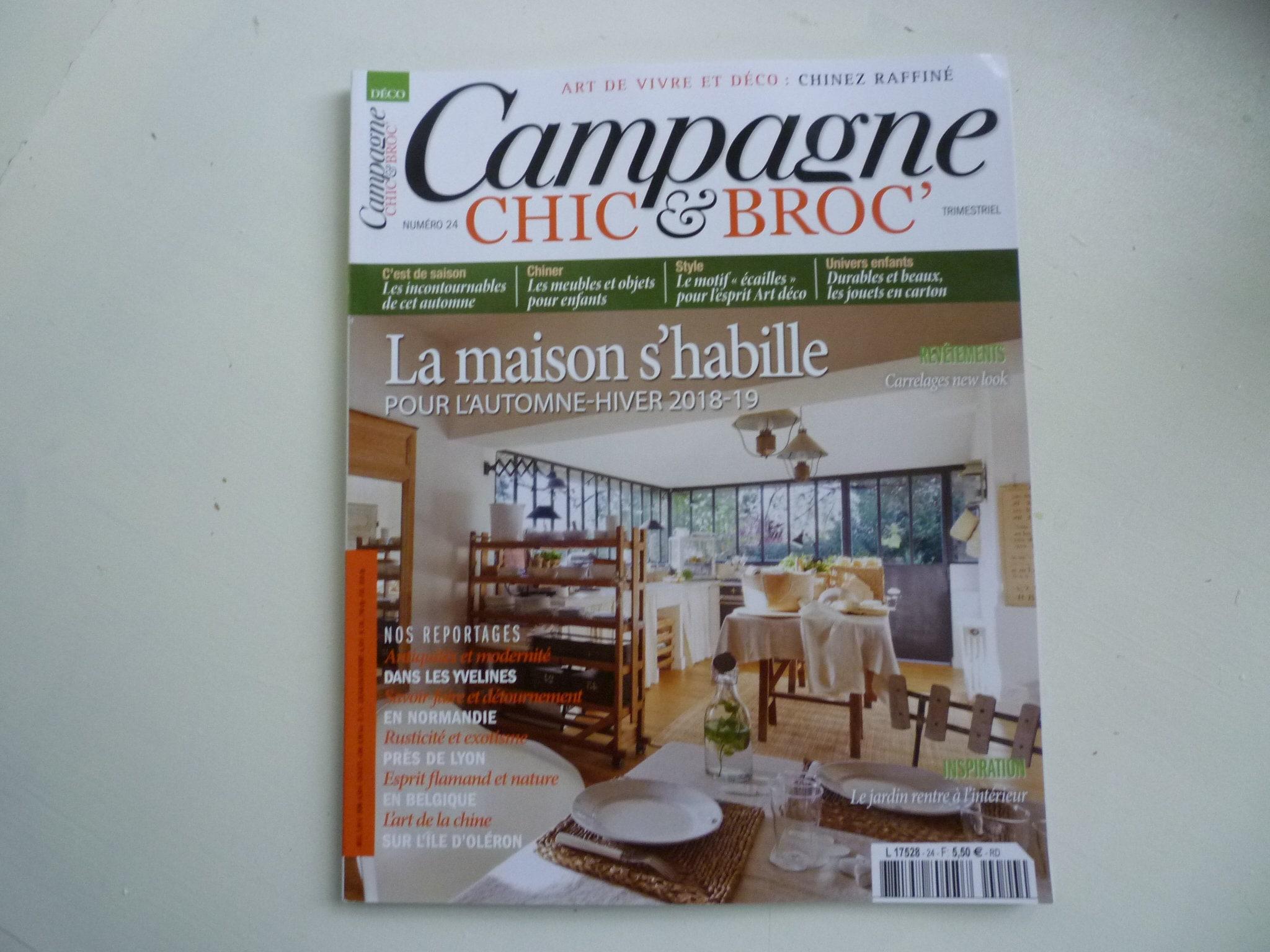 C Maison Et Jardin Magazine campagne chic & broc- issue no. 24 / 2018
