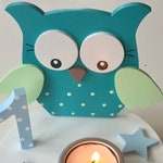 Birthday Candle holder of Pilzglück, birthday candle, children's birthday, birthday, candle holder, baby, child, birth, number