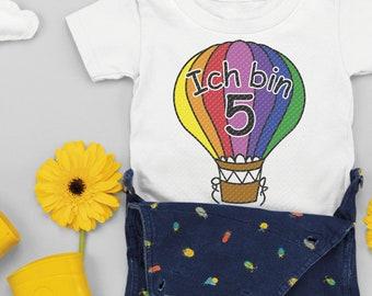 Plotterdatei Geburtstag Heißluftballon mit Zahl, Serie 15