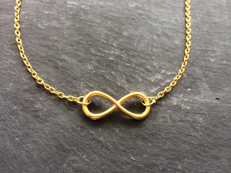 Necklace Infinity gold colors image 0