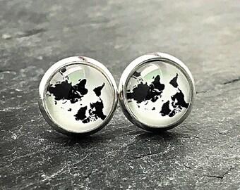 Mini Stud Earrings 10 mm motif