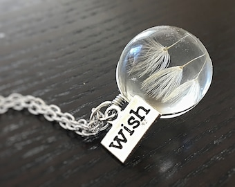 """Silver Necklace Flower """"Wish"""""""