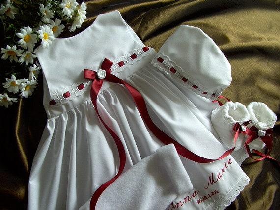 12b0ae85b8f384 Baptême filles robe, bébé robe robe robe de baptême, robe de baptême  garçon, baptême robe set + boléro + chaussures + hotte, coton avec  dentelle, ...