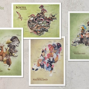 Printed in Moscow 1979 They need to save birds Animal Set of 16  Soviet Postcards The Red book of USSR