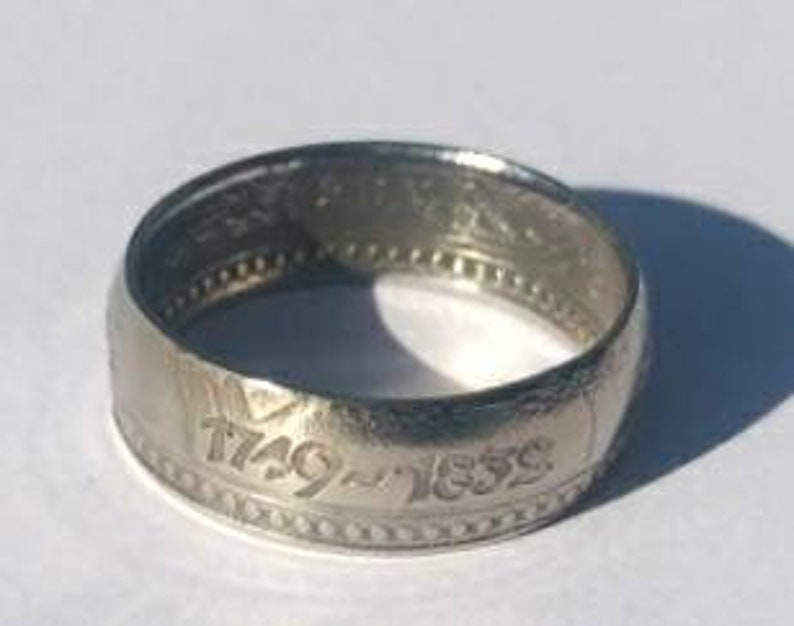 Johann Wolfgang von Goethe-Coin Ring-Ring-Coin Ring-Collector/'s Coin-Also possible as a necklace!
