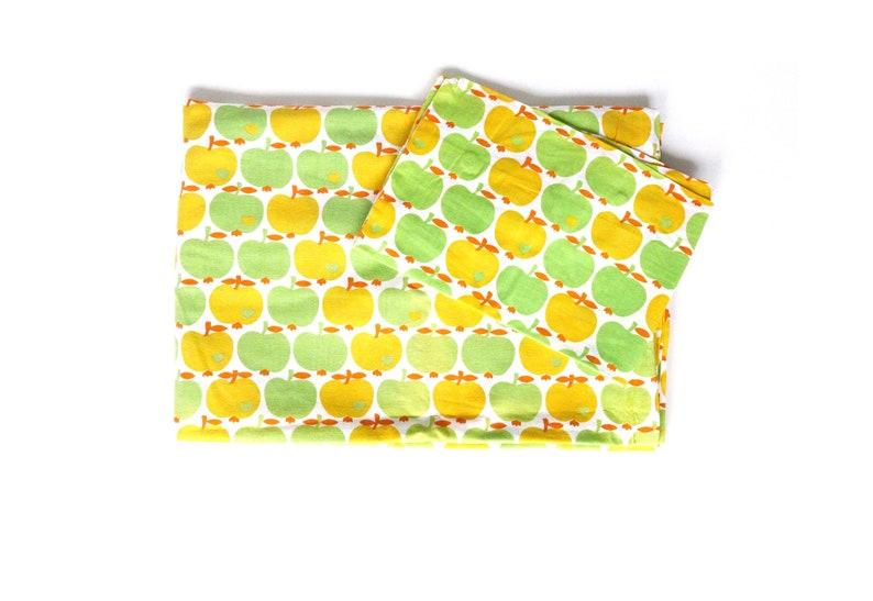 Graziela Kinderbettwäsche äpfel Grün Gelb Etsy