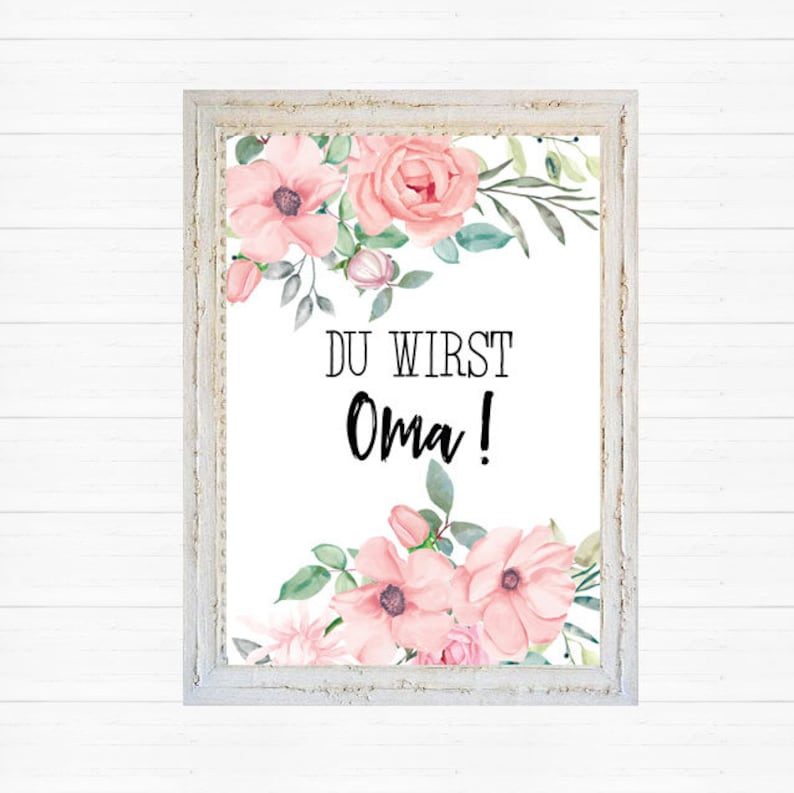 A6 postcard for future grannies in old pink gloss opsy paper thickness 235gm2 gift for mums