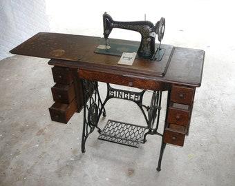 singer sewing machine cabinet etsy rh etsy com restoring old singer sewing machine cabinet antique singer sewing machine cabinet parts