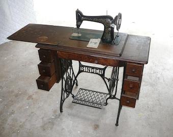 Singer Sewing Machine Cabinet Etsy