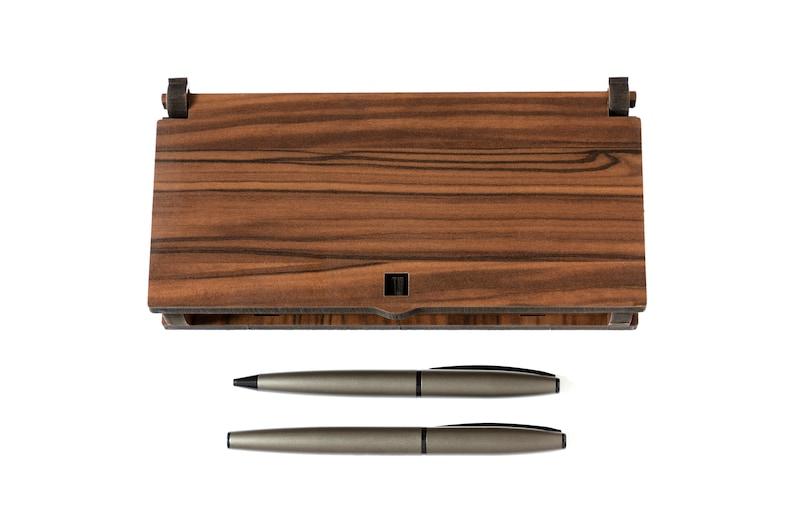 G\u00f6k-T\u00fcrk wooden casket with 2 ballpoint pens Baba Cinar Gibi.