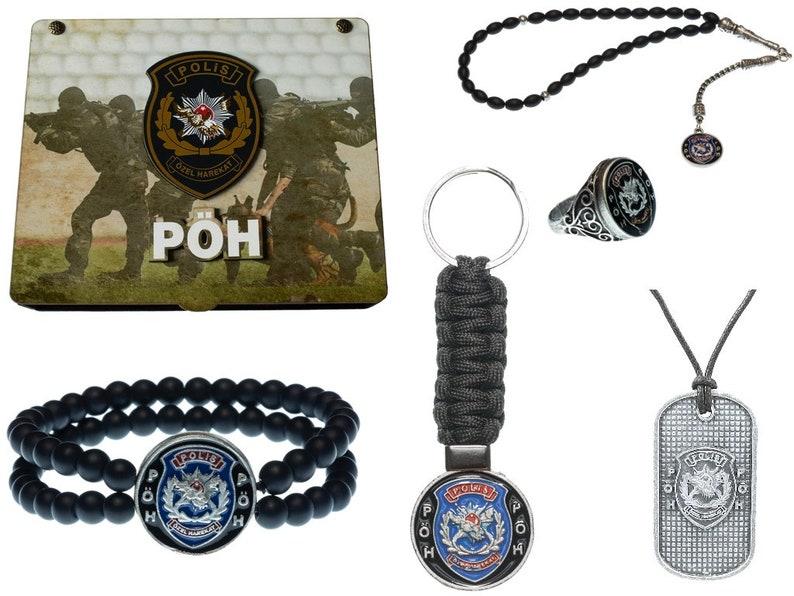 bracelet G\u00f6k-Turk handmade casket /' P\u00d6H /' jewelry for men: Set of necklace ring keychain prayer chain-Tesbih
