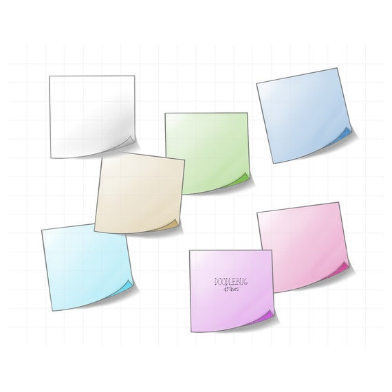 image relating to Printable Post Its referred to as Sticky Notes Electronic Planner Stickers Short article It Notice Clipart Printable PNG Reminder Graphics
