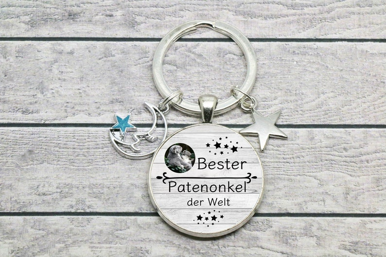 godfather keyring  \u221e keypendant *Best godfather in the world*  with 2 charms \u221e unique gift ideas by CrystalsAndPearlsIH