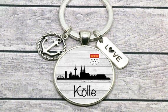 selbstgenäht Cologne // Karneval Skyline Köln Schlüsselanhänger