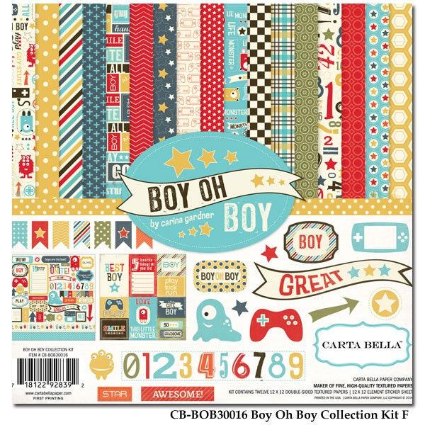 Boy Oh Boy 12x12 Collection Kit von von Kit Carta Bella 5f9c01