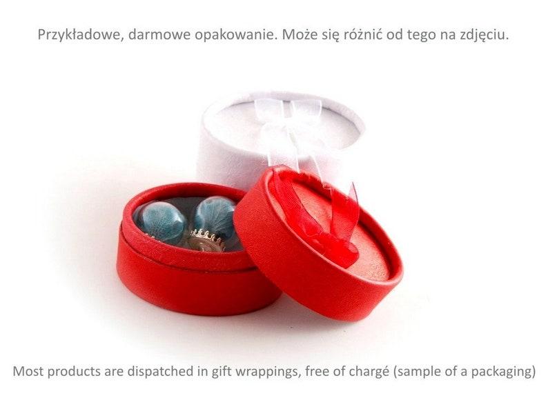ligt blue flower Earrings  with dried flowers in glass ball hydrangea