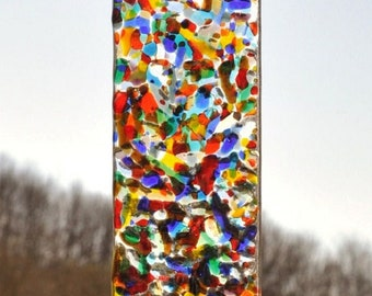 Sun catcher in fused Glass Garden Decoration in glass fusing technology