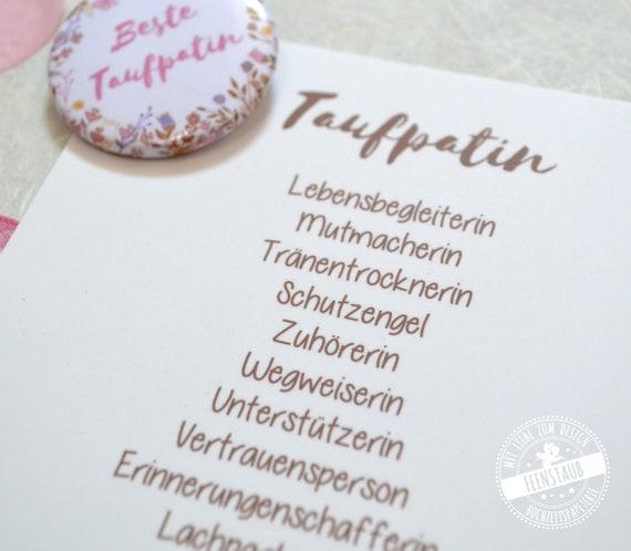 Taufpatin Geschenk Kartenset Dankeschön Patentante Fragen Etsy