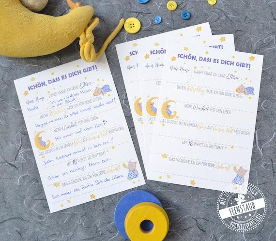 Geschenk Zur Geburt Gästebuch Karten Mit Fragen Zum Ausfüllen Ratschläge Weisheiten Wünsche Für Baby Erinnerung Taufe Babyparty Bär