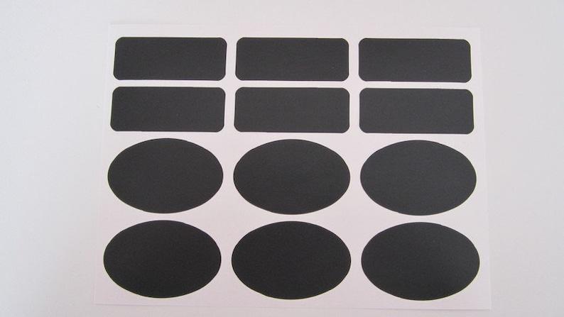 Blackboard Label Black Chalk
