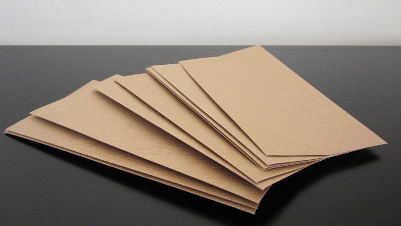 Din Lang 5 Blanko Kuverts Aus Kraftpapier Natron Paper Kuvert Etsy