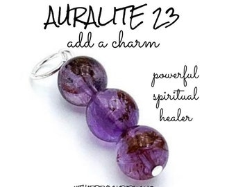 925 Silver with Positive Healing Energy! Auralite 23 Ring Size 7.5