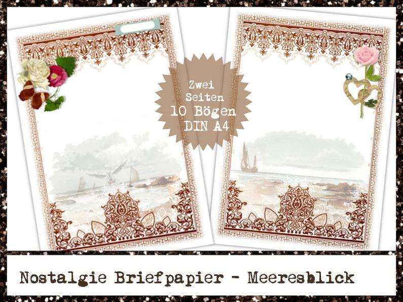 Motiv AUF DEM MEER 50 Blatt A4 Briefpapier