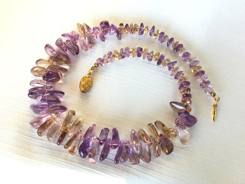 gift Mother/'s Day gemstone necklace purple necklace Ametrine necklace festive Christmas necklace birthday