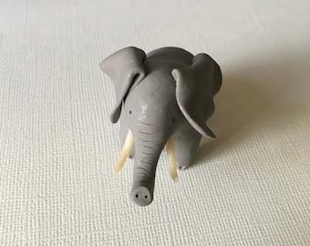 Mini elephant figurine, cute little elephant, tiny elephant sculpture, small elephant, adorable elephant ornament