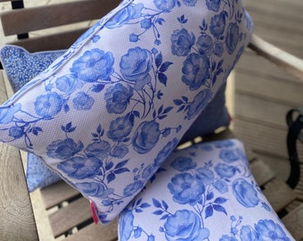 """Wish - Decorative pillow piping """"Travel to the blue"""" keder, blue, white, desired size, desired fabric, bygericke"""