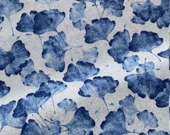 Ginko - pillow in desired size, beige, grey blue, jeans, bygericke,