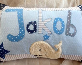 """Name cushion """"Whale"""""""