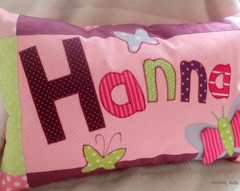 "Name cushion ""SchmetTerlinge"""