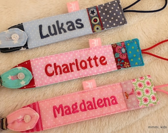 Pacifier tape with name