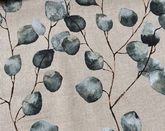 Eucalytpus - pillow in desired size, beige, grey, dark green, bygericke,