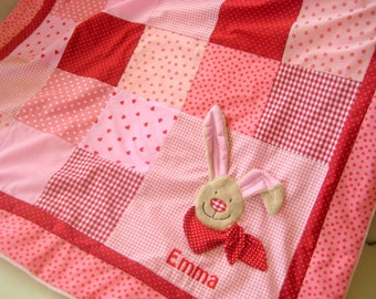 """Patchwork blanket-""""HaSe in Red"""""""