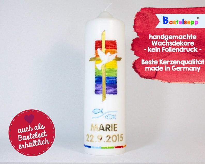 Taufkerze Nr101 Kerze Taufe Jungen Mädchen Handgemacht Made In Germany 25070 Evangelisch Katholisch Tischkerze Deko Taufe Taube Kreuz