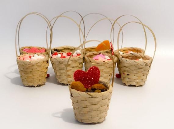 """Silk Flower Floral Arrangements ONE dozen baskets. 4/"""" Mini Wicker Craft Baskets"""