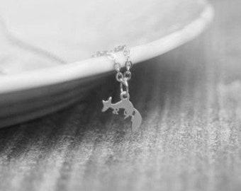 Chain Fox SILVER PLATED
