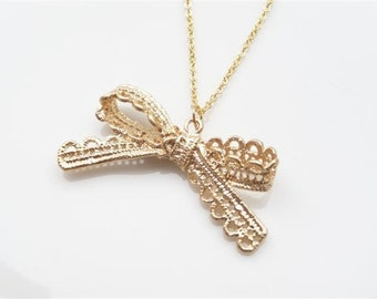 Chain Bow Gold Plated