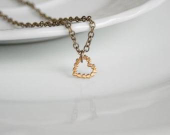 Necklace Brass Heart