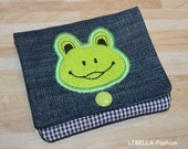 Purse Frog Embroidery File 13x18 ITH Wallet Portmonaie Case Instructions in German