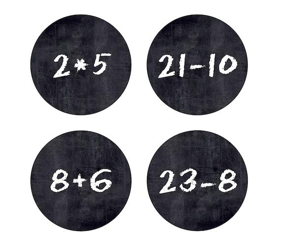 Adventskalender Zahlen Mathe adventskalenderzahlen aufkleber für deinen diy | etsy