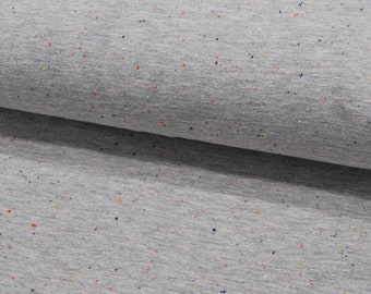 Sweat - Cosy Colours - Confetti mottled on light grey - 0.5 meters