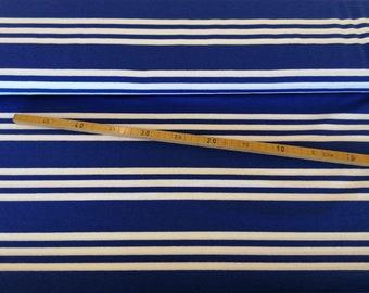 Jersey stripes royal blue-white