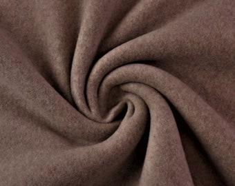 Organic cotton fleece melange deer brown